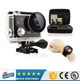 Original H8 Ultra 4K HD 2 pulgadas 170 ° 360 VR HDMI WIFI cámaras de acción de pantalla doble cámara de deportes a prueba de agua + control remoto DV DVR al por menor 5pcs
