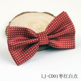 Adult multi-color polyester silk bow ties men's dress ideas wedding tie wholesale