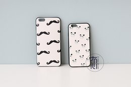 Wholesale exclusive agency Newest accept OEM product cute mustache and panda pretect case for iphone plus