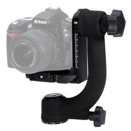 Wholesale Mcoplus Professional Heavy Duty Metal Gimbal Tripod Head Ball with Arca Swiss Standard Quick Release Plate for DSLR Camera