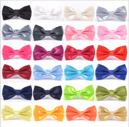 Men's Bow Ties Solid Color Plain Satin Skinny Ties Groom Necktie Silk Jacquard Woven Tie In Stock 0322