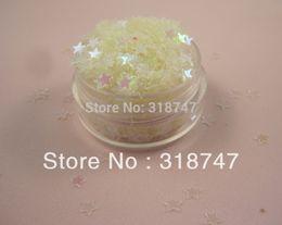 Escama de lentejuelas en venta-4 mm 10g blanco de lentejuelas escama estrella por decortation casa / costura / decoración de la boda del confeti 043006005 (4)