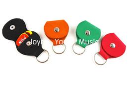 Colorful Leather Guitar Picks Holder Keyring+Free 5pcs Niko Guitar Picks Plectrums Free Shipping