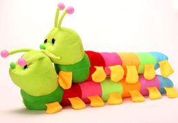 Wholesale New Stuffed Animals For Children Colours Caterpillar Child Plush Toys Cute Cartoon Plush Gifts Bolster For Kids CM K261