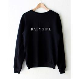 Funny Letter Print BABYGIRL Clothes Black Pullover Sweatshirt Women Casual Hoodies Harajuku Street Style Ladies Sportswear