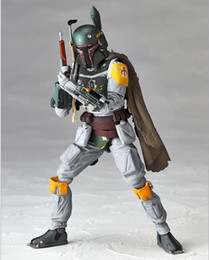 Canada Star Wars REVO 005 Boba Fett Figurine d'action en PVC modèle de collection jouet 16cm KT1283 war action on sale Offre