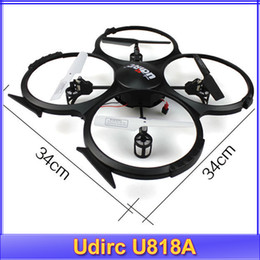 Wholesale Udirc new RC helicopter gyroscope Quadrocopter Camera UFO U818A Taking picture G remote control toys