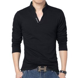 Hot sale 2018 New Fashion Brand Men Clothes Solid Color Long Sleeve Slim Fit Polo T Shirt Men 100% Cotton T-Shirt Casual Tops & Tees