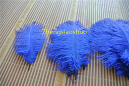 Free Shipping Ostrich Feather royal blue 8-10inch 20-25cm wedding Centerpieces party feather supplies party festive decor