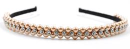 New Women Pearl Headband with Crystal Rhinestone Handmade Wedding Hair Accessories High Quality Hair Jewelry for Wholesale
