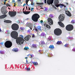 Wholesale Bue Light DMC hotfix rhinestones Crystal AB SS6 SS50 Machine Cut Flatback strass chaton stone for clothes crafts decorations