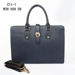 Wholesale 39CM man s bag high quality name brands bag Fashion genuine leather men handbags famous brand briefcases laptop bag