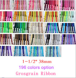 "15% off NEW STYLE 1-1 2"" 38mm Solid Colors 100% Polyester grosgrain Ribbon gift Packaging belt ,hair accessories 300 Yards 196colors OEM"