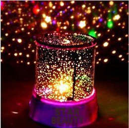 Wholesale Romantic Blue Amazing Master Star Sky Universal Night Light Kid Chidren Projector Christmas Gift Present