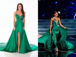 Wholesale 2015 Sexy Evening Gowns The Definitive Ranking Of All Miss USA Contestants Pageant Dresses Spaghetti Straps Sweep Train Formal Gowns