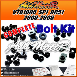 Wholesale Addmotor Pieces Set Black Complete Fairing Bolt Kit Body Screws Fasteners For Honda VTR1000 SP1 RC51 VTR H10S