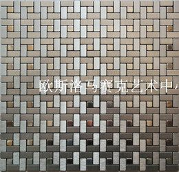 Wholesale Mosaic comes with a metal aluminum composite panel mosaic wall stickers gum adhesive DIY background stock M16