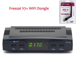 Wholesale Cheap Freesat V7 with Wifi Dongle Set Top box DVB S2 Satellite receiver Support PVR Ready