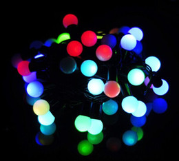 Free Shipping 5m Waterproof RGB 50 Ball LED String Light Wedding Party Fairy string light Outdoor Ball Christmas String lights