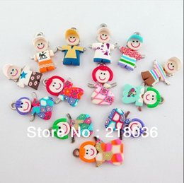 100Pcs Mixed Polymer Fimo Clay Girl Boy Charms Pendants For Bracelet Necklace Fashion Jewelry Making DIY Accessories Girls Bijoux NEW D052