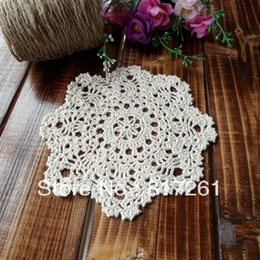 Wholesale IKEA style beautiful handmade cotton doily knitted cup placemat fashion flower heat pad cm pic cup coaster pad