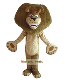 Wholesale Madagascar Lion Alex Mascot Costume cartoon costumes advertising mascot animal costume school mascot fancy dress costumes