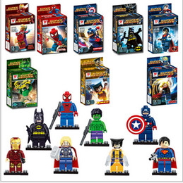 Wholesale NEW High quality Fancy assembling lego toys The avengers alliance superhero tsai series brand with S