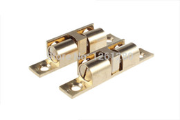 free shipping 8 pieces S brass cabinet Catches metal furniture Hardware door catches and door closer kitchen lock closet part