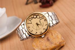 M the Roman character big alloy watch Corrugated quartz watch men and women