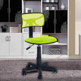 Wholesale GREEN Office Computer Simple Chair without arms with fabric pads