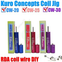New Kuro Concepts Wire Coiling Tool Koiler coil jig RAD coil tools drawing Wrapping Coiler for ecig kayfun ATTY Orchid Legion atomizer RBA