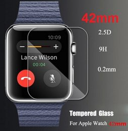 Wholesale New Tempered Glass HD Protector Film Screen Guard Cover For Apple Watch mm mm with Retail Box