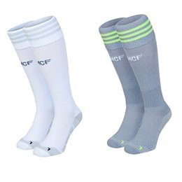 Wholesale Real Madrid Socks Top A Thai Quality Espa La Liga Real Madrid Home White Away Grey Football Chaussette Soccer Calcetines Z00471