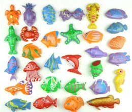 Wholesale Plastic double faced D Stereo Fish in bulk Magnetic Fishing Toy Best Gift for Baby Boy or Girl Educational Toys