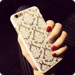 Hot Sale Luxury Hard Plastic Case For iPhone 8 7 Plus SE 5 5S 6 6S 4 4S Damask Vintage Flower Pattern Cover Case Shell MOQ:100pcs