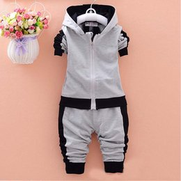 Wholesale baby boys clothing sets children autumn winter wear cotton casual tracksuits kids clothes sports suit hot