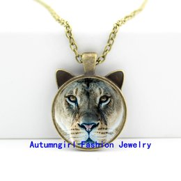2016 New Tiger Necklace Tiger Pendant Wild Animal Jewelry Glass Photo Pendant Necklace CN-00459