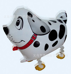 Foreign balloon black and white spotted dog walking pet balloon modeling balloons aluminum balloons wholesale children's toys