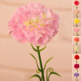 Wholesale Hot Sale Artificial Flowers Carnation Bouquet Silk Flower For Home Living Room Party Wedding Decor Valentine s Day Gift JM0082 Salebags