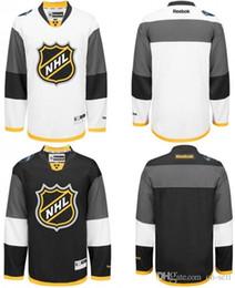 Wholesale 2016 Honda NHL All Star Taylor Hall Joe Pavelski Corey Perry John Scott Daniel Sedin Brent Burns Black White Customized Jerseys