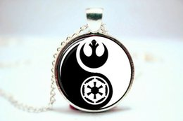 Wholesale 10PCS YINGYANG Star Wars Logo Pendant Necklace Glass Photo cabochon necklace