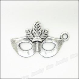 Charms Antique Plated Silver Zinc Alloy Mask Fit Pendant Bracelet Necklace DIY Jewelry 100pcs