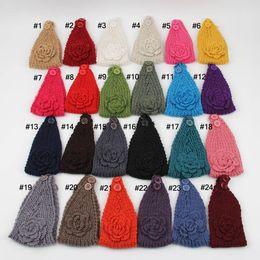 Fashion Womens Adult Lady kid's Crochet Winter Autumn Knit Headbands Warm Hoop Wide Plait Headbands ear warmer Wool Stretch Hair Bands D688J