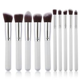 10 Pcs Professional Makeup Brushes Set Makeup Brushes Kit Free Draw String Makeup Bag Free Shipping