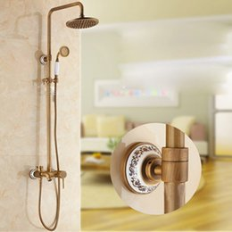 All-copper Shower Suite antique lift sun Shower faucet hot and cold Shower thickened