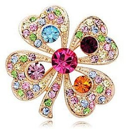 Color Clover Brooch hot sale jewelry for women free shipping YP0559