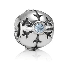 Silver Snow Design 925 Sterling Silver European Bead Charm Enamel handcrafted Jewelry For Snake Bracelet Chain