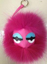 Mode bon marché Monster poils fourrure sac Charm bouc fourrure Mode Porte-clés à partir de charmes de chèvre fabricateur