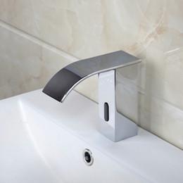 Wholesale 89028 Automatic sensor bathroom chrome polished finish basin faucet tap mixer