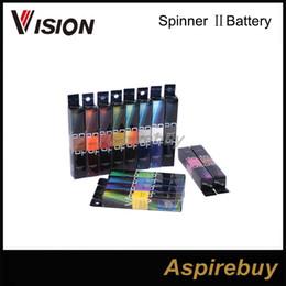 Torsion ii en Ligne-Original Vision Spinner 2 1650mAh Ego torsion 3.3-4.8V vision spinner II batterie de tension variable pour cigarette électronique ego atomiseur